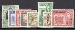 FIDJI ( POSTE ) : LOT  DE  TIMBRES  NEUFS  AVEC  TRACE  DE  CHARNIERE . - Fiji (...-1970)