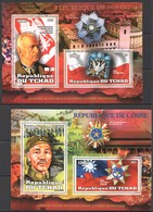 C240 2012 TCHAD WORLD LEADERS ALLIES OF WORLD WAR II WWII PRIVATE ISSUE 2BL MNH - Guerre Mondiale (Seconde)