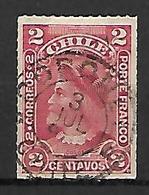 CHILI    -    1900 .  Y&T N° 35 Oblitéré .   Christophe Colomb. - Chile