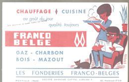 Buvard LES FONDERIES FRANCO-BELGES Chauffage Et Cuisine - Electricity & Gas
