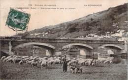 27 - Acquigny - Pont D'Acquigny, Vue Prise Dans Le Parc Du Manoir (moutons, Pâtre Berger) - Acquigny