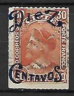 CHILI    -    1903 .  Y&T N° 48 Oblitéré .  Surchargé .  Christophe Colomb. - Chili