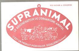 Buvard SUPRANIMAL Le Régénérateur De L'organisme Animal De PORVIGOR à Doullens Dans La Somme - Animals
