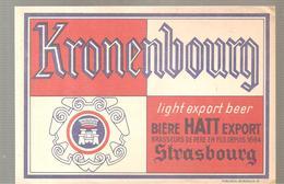 Buvard KRONENBOURG Light Export Beer STRASBOURG - Liqueur & Bière