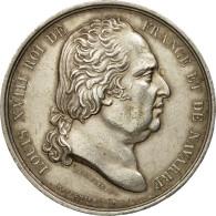 France, Jeton, Louis XVIII, Chambre De Commerce De Rouen, Depaulis, SUP, Argent - France