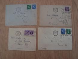 LOT DE 4 ENVELOPPES 1950 1949 - 1902-1951 (Rois)