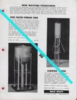 Catalogue MAX GRAY Supplement Sheet No 9 Feb 1959 Sanding Tower Water Thank - Customer Service Bulletin - Books And Magazines
