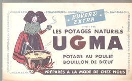 Buvard UGMA Les Potages Naturels UGMA Poatage Au Poulet Bouillon De Boeuf - Sopas & Salsas