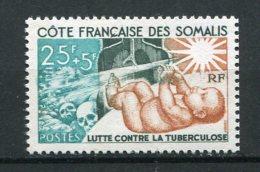 8531  COTE Des SOMALIS N°324 ** 25F+5F Brun-jaune,vert-noir Et Turquoise Lutte Contre La Tuberculose   1966    TTB - Nuovi