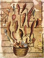 """MUSEE ARCHEOLOGIQUE DE SOUSSE """"POISSON S'ECHAPPANT DU PANIER""""  REF 56995 - Peintures & Tableaux"""