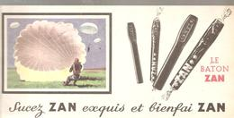Buvard ZAN Le Baton ZAN Sucez ZAN Esquis Et Bienfai ZAN Dessin D'un Parachutiste - Cake & Candy