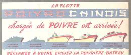 Buvard  PROIVROCHINOIS La Flotte POIVROCHINOIS Chargée De Poivre Est Arrivée! - Food