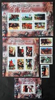 Gambia 2000** Mi.3872-88 The Horse In Art MNH [22;42] - Arts