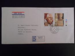 Theme Europa , Lettre De Valletta 1984 Pour Le Vesinet - 1984