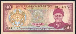 BHUTAN P17b 50 NGULTRUM 1992 Prefix FB   UNC. - Bhoutan