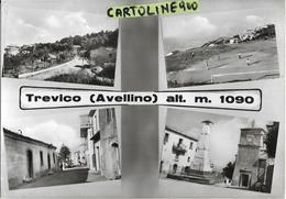 Campania-avellino-trevico Vedute Vedutine Trevico Campo Di Calcio Piazza Una Via Ingresso Paese Animate Anni 50/60 - Other Cities