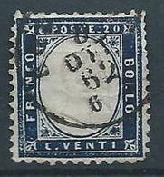 1862 REGNO USATO EFFIGIE 20 CENT - RR13285 - 1861-78 Vittorio Emanuele II