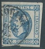 1863 REGNO USATO EFFIGIE 15 CENT I TIPO - RR4596-9 - 1861-78 Vittorio Emanuele II