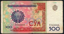 UZBEKISTAN P81 500 SOM 1999  FINE NO P.h. ! - Ouzbékistan