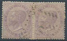 1863-65 REGNO USATO LONDRA EFFIGIE COPPIA 60 CENT - RR4386 - 1861-78 Vittorio Emanuele II