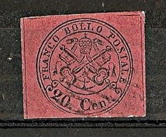 1867 STATO PONTIFICIO USATO 20 CENT - RR6315 - Stato Pontificio