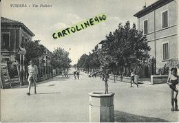 Emilia Romagna-rimini-viserba Via Polazzi Animatissima Veduta Via Anni 40/50 - Autres Villes