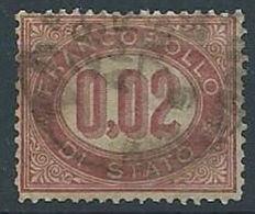 1875 REGNO USATO SERVIZIO DI STATO 2 CENT - RR13218 - Servizi