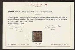 1879 REGNO USATO UMBERTO I 30 CENT RAYBAUDI - Usati