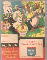 Protège Cahier HUILE DES TROIS MERLETTES HUILERIE DU LAONNOIS VOHARIES - Liqueur & Bière