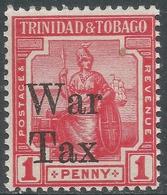 Trinidad & Tobago. 1918 War Tax. 1d MH SG 188b - Trinidad & Tobago (...-1961)
