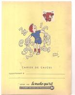 Protège Cahier LA VACHE QUI RIT Cahier De Calcul Dessiné Par Hervé Baille - Liqueur & Bière