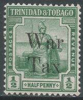Trinidad & Tobago. 1918 War Tax. ½d MH SG 187 - Trinidad & Tobago (...-1961)