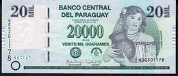 PARAGUAY P238b 20.000 GUARANIES 2015 (issue 2017) Series G - Paraguay