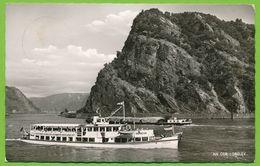 An Der Loreley - Motorschiff Bingen Péniche Binnenschiff - Gelauft 1960 - Loreley