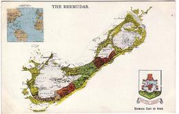 OCEAN ATLANTIQUE: CPA Geographique Des Iles  BERMUDES - Bermuda Coat Of Arms - Ref D23 - Bermudes