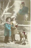 CPA PATRIOTIQUE * WW1 * LES JOUJOUX SONT UN PASSE TEMPS , VOYAGÉE 1915 - Heimat