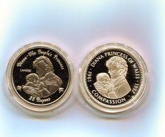Diana Princess 2 Fois 20 DOLLARS ARGENT Republic Of Liberia / 25 Rupess Republic Of Seychelles - Liberia