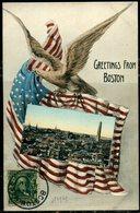 "Cpa  USA  Boston  ""greetings From Boston"" - Boston"