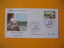 FDC  Gabon   1973   Centenaire De La Découverte Du Basile De La Lèpre - Gabon (1960-...)