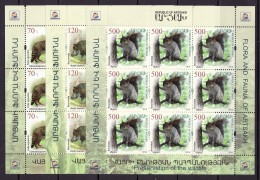 Armenien/Armenie/Armenia/Artsakh/Karabakh 2018, Flora Fauna Wildlife, Wildcat Wild Boar Squirrel, 3 Sheets - MNH - Armenia