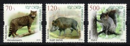 Armenien/Armenie/Armenia/Artsakh/Karabakh 2018, Flora Fauna Wildlife, Wildcat Wild Boar Squirrel - MNH - Arménie
