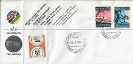 FDC UFFICIALE UCI/CONI/FCI CAMPIONATI MONDIALI DI CICLISMO SU PISTA 1968 - 26.VIII.1968 - CATALOGO SASSONE NUMERO 1092/3 - Ciclismo