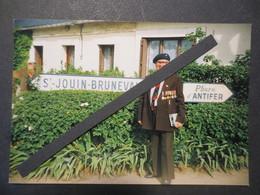 St Jouin - Bruneval - Commémoration - Photo Originale - Vétéran - Marin Parachutiste - 1994 - TBE - - War, Military