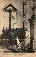 OORLOG 1914-1915. NOORDSCHOTE. AFGESCHOTEN CHRISTUS-BEELD. LE CHRIST. CHRIST. - Lo-Reninge
