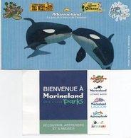 2 TICKETS D'ENTREE + PROGRAMME Marineland ANTIBES - Tickets - Entradas