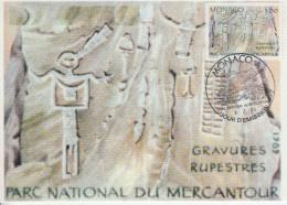 Carte Maximum  1er   Jour    MONACO    Parc  Du  Mercantour   Gravures  Rupestres    1989 - Prehistory