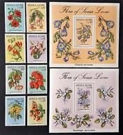 Sierra Leone  1986** Mi.901-10 Flowers MNH [22,48] - Végétaux
