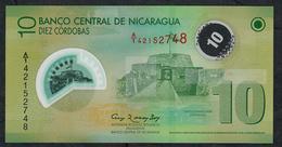 NICARAGUA P201b 10 CORDOBAS Dated 2007 Issued 2012 Prefix A/1  UNC. - Nicaragua