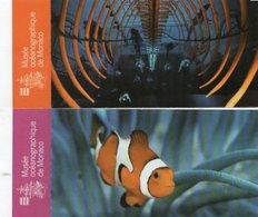 2 TICKETS D'ENTREE + PLAN Musée Océanographique De Monaco MAP - Tickets - Entradas