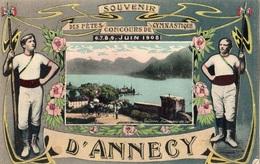 SOUVENIR DES FETES CONCOURS DE GYMNASTIQUE 6,7,8,9 JUIN 1908 D'ANNECY - Annecy